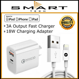 FAST Charger QC USB-C Wall Adapter for iPhone 12 11 Pro 8 7 X XR XS Max iPad 6 5