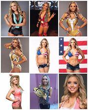 Allie AEW Tna Wrestling todos Elite/(30) 6x4 fotos brillante colección.