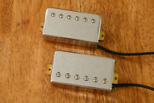 HIGH OUTPUT HUMBUCKER PICKUP SET IN CHROME ALNICO 5 MAGNETS FOUR CONDUCTOR WIRED