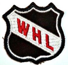 b2537243a VINTAGE 1970 s WHL SHIELD HOCKEY 3x3 INCH EMBROIDERED NHL LOGO PATCH