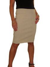 ICE Stretch Bodycon Pencil Skirt Above Knee Smart Casual Size 6-18
