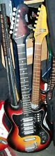 1968 Teisco Silvertone 4 Pickup Electric Guitar Model E404
