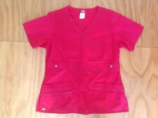 Dickies Work Uniform Red Short Sleeve Top With Pockets Size M New