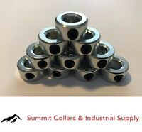"5/16"" Bore Shaft Solid Steel Zinc Plated (10 PCS) Set Screw Collar Free Ship"