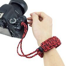 Kamera Handgelenk Gurt Handschlaufe Verstellbar Stark Rot Für DSLR Kamera Neu