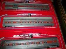 American Flyer Train # 49605 New Haven 3 Pack of Streamliner  Passenger Cars