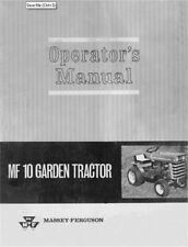 Massey Ferguson MF10 Operators MANUAL MF-10 LGT 690-751-M1 (12/1965)