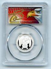 2020 S 25C Silver American Samoa Quarter PCGS PR70DCAM FDOI Thomas Cleveland Eag
