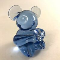 Art Glass Mini Sitting Bear Figurine - Blue - 3""
