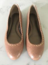 Womens Talbots Leather Snake Skin Print Ballet Flats Shoes Size 7.5 B I2