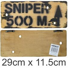 Military Wooden Wall Sign Bombsite Sniper Keep out Mines Kids Army Den Bedroom Sniper 500m