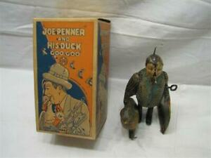 Early 1930s Marx Joe Penner Goo-Goo Duck Tin Litho Wind-Up Toy w/Rare Box Windup