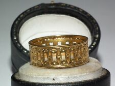 Very Rare, Pierced Gallery Solid 22ct Gold Antique c1890 Band / Wedding Ring