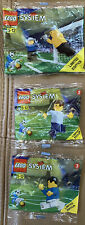 LEGO 3306 Goalkeepers 3318 English Footballer 3305 World Team Soccer - NEW