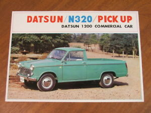 c1962 Datsun N320 Pickup 1200 original 4 page brochure