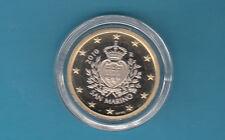 SAN MARINO 1 euro € FONDO SPECCHIO PROOF 2010 DA SET DI ZECCA IN CAPSULA FOTO