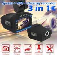 VGR3-S 3 in 1 Car DVR Dash Cam Voice Alert GPS Radar Detector Video Recorder