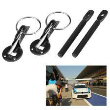 New Universal Bonnet Hood Pin Pins Lock Latch Kit for Racing Sport Car Black