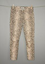 7 FOR ALL MANKIND $215 Highwaist Ankle Skinny Jean in Mixed Leopard Size 29