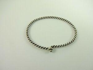 Sterling Silver James Avery Twisty Cable Hook On Bangle  Bracelet