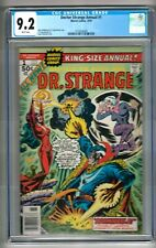 Doctor Strange Annual #1 (1976) CGC 9.2  White Pages  Wolfman -Russell - Cockrum