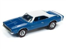 1/64 JOHNNY LIGHTNING MUSCLE CARS 1968 Dodge Charger (Class of 68) (Bright Blue