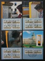 BERLIN ATM MK 1987 VS1 TS1 KOMPLETT 4 MAXIMUMKARTEN MAXIMUM CARD MC CM c7603