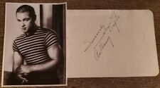 Sci-Fi Actor Anthony Dexter Signed Album Page - Sexy Rudolph Valentino Lookalike