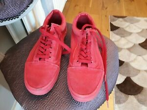 Red Vans. Size UK 9.