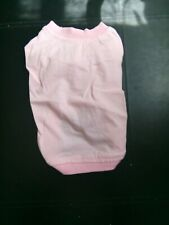 "NEW PINK  DOG T SHIRT, SIZE 14.5"" BACK."