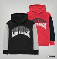 Boys Converse Kangaroo Ribbed Block Hoodie Sizes Age from 8 to 15 Yrs