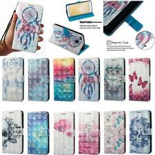 Smart Phones 3D Leather Flip Wallet Stand Slots Case Cover For LG Velvet