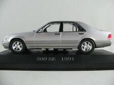 Altaya #55 Mercedes-Benz 500 SE (1991) in silbermetallic 1:43 NEU/PC-Vitrine