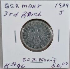 1939 J Germany Third Reich 50 Reichspfennig