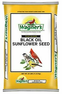 Wagner's 76027 Black Oil Sunflower Wild Bird Food 25-Pound Bag