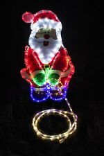LED Weeing Santa Rope Light Father Christmas Decoration Novelty Outdoor Large