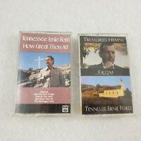2 Tennessee Ernie Ford Cassette Tapes Treasured Hymns How Great Thou Art Gospel