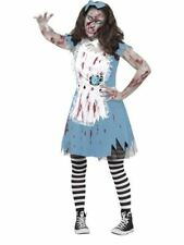 Alice in Wonderland Polyester Dress Costumes for Girls