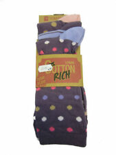 Cotton Blend Spotted Machine Washable Socks for Women