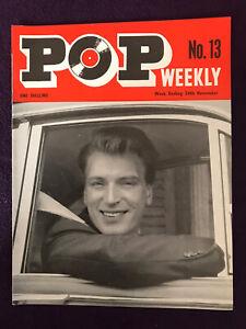POP WEEKLY MAGAZINE 1st year No.13 Nov 24 1962 Hayley Mills Billy Fury