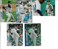 2020 TOPPS OPENING DAY BASEBALL NY YANKEES LOT OF 5 CARDS PAXTON BLUE FOIL