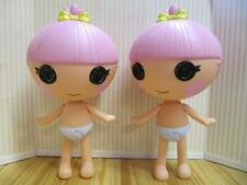 """LALALOOPSY Full Size 7"""" Little Sister of Jewel Doll Trinket Nude Twins Pair lot"""