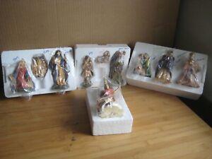 10 Piece Avon Nativity Manger Scene Heirloom Collection Figurines 1996 VTG Avon