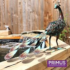 fabriqué à la main métal solaire Paon léger décoration jardin oiseau sculpture
