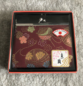 Japanese Traditional Chirimen Crepe Weave Coin Purse Wallet Made in Japan