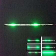 2x Green 32-SMD Mini LED Scanner Knight Rider Lighting Strip For Car Interior