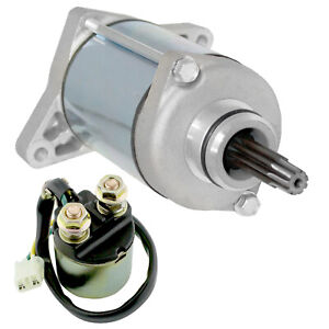Starter And Relay Solenoid for Honda TRX420 FE TRX420FM Rancher 420 4X4 2007-13