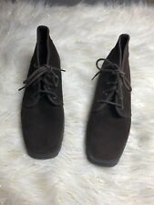 KEDS WOMEN'S BROWN SUEDE LEATHER LACE UP CHUKKA ANKLE BOOTS SIZE 7.5