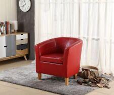 Chaises rouges en cuir pour le salon