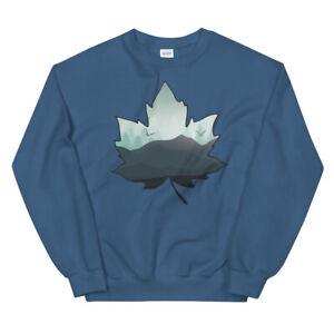 Rolling Mountains Leaf Shaped Unisex Sweatshirt Various Colors/Sizes